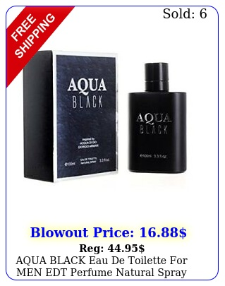 aqua black eau de toilette men edt perfume natural spray parfum fl o