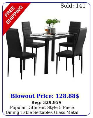 popular different style piece dining table settables glass metal furniture u
