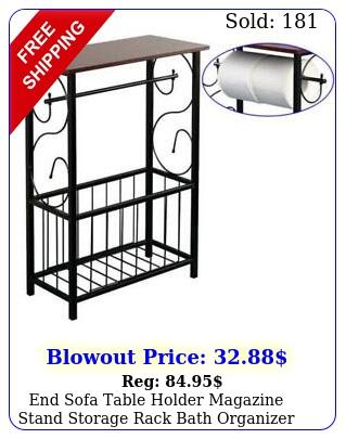 end sofa table holder magazine stand storage rack bath organizer bathroom hom