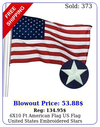 x ft american flag us flag united states embroidered stars brass grommet