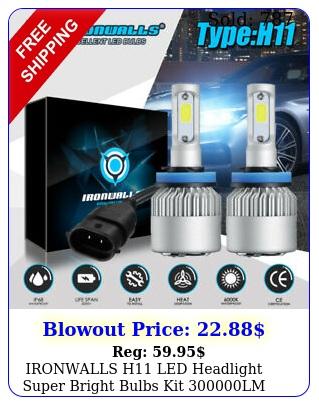 ironwalls h led headlight super bright bulbs kit lm hilo beam
