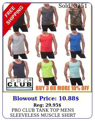 pro club tank top mens sleeveless muscle shirt proclub plain camo t shirts sx