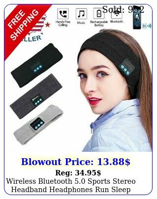 wireless bluetooth sports stereo headband headphones run sleep music headse