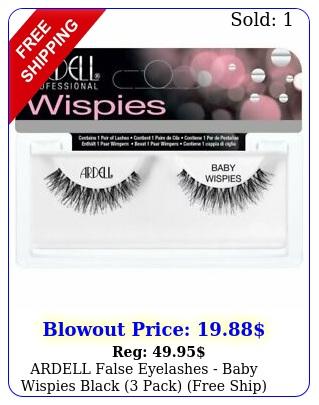 ardell false eyelashes baby wispies black pack free shi