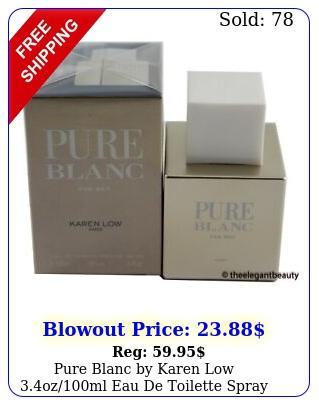 pure blanc by karen low ozml eau de toilette spray men i