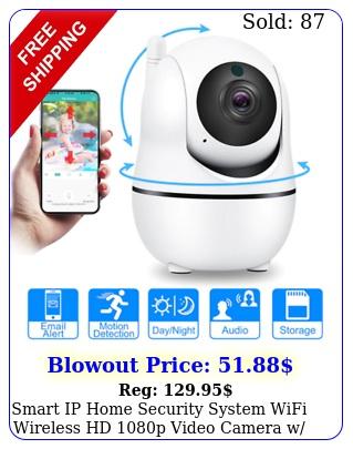 smart ip home security system wifi wireless hd p video camera w way audi
