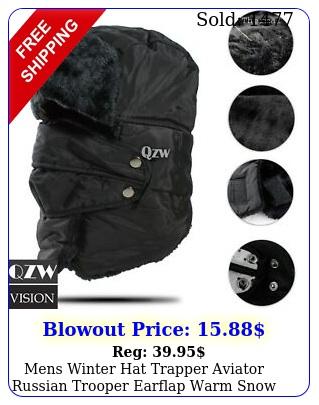mens winter hat trapper aviator russian trooper earflap warm snow ski mask ca