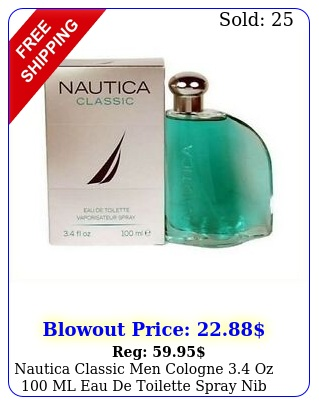 nautica classic men cologne oz ml eau de toilette spray nib seale