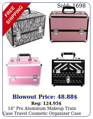 pro aluminum makeup train case travel cosmetic organizer case jewelry u