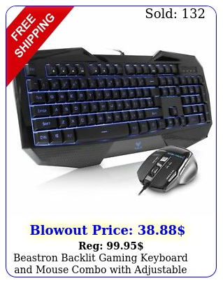 beastron backlit gaming keyboard mouse combo with adjustable dpi gamer