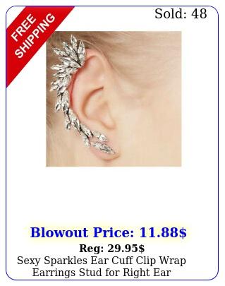 sexy sparkles ear cuff clip wrap earrings stud right ea