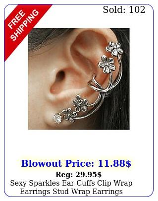 sexy sparkles ear cuffs clip wrap earrings stud wrap earrings earrings cuff