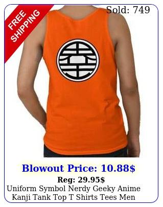 uniform symbol nerdy geeky anime kanji tank top t shirts tees men wome