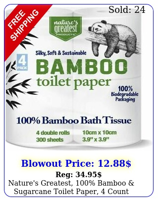 nature's greatest bamboo sugarcane toilet paper count pack o