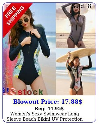 women's sexy swimwear long sleeve beach bikini uv protection surfing bodysui