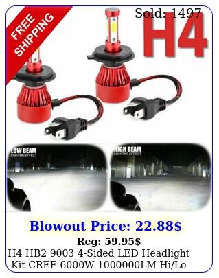 h hb sided led headlight kit cree w lm hilo beam power bul