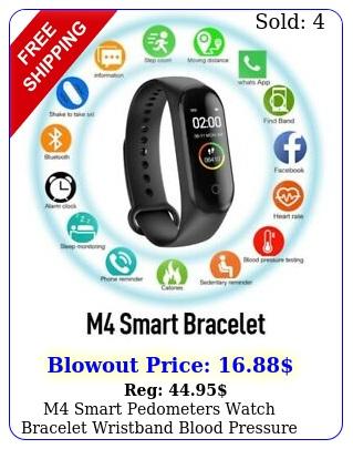 m smart pedometers watch bracelet wristband blood pressure fitness tracke