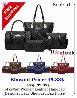 pcsset women leather handbag designer lady shoulder bag purse tote bags walle
