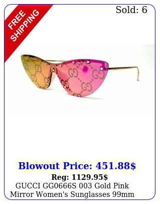 gucci ggs gold pink mirror women's sunglasses m