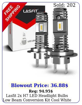 lasfit x h led headlight bulbs low beam conversion kit cool white k lamp