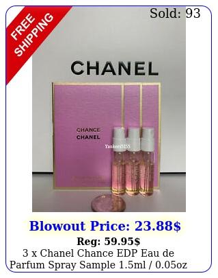 x chanel chance edp eau de parfum spray sample ml oz eac