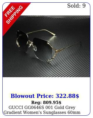 gucci ggs gold grey gradient women's sunglasses m