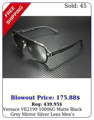 versace ve g matte black grey mirror silver lens men's sunglasses m
