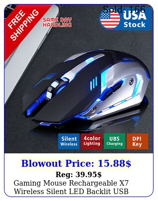 gaming mouse rechargeable x wireless silent led backlit usb optical ergonomic