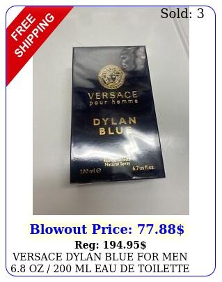 versace dylan blue men oz  ml eau de toilette spra