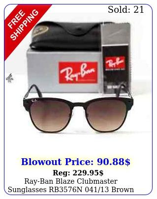 rayban blaze clubmaster sunglasses rbn brown gradient lens m