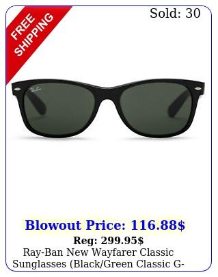 rayban wayfarer classic sunglasses blackgreen classic