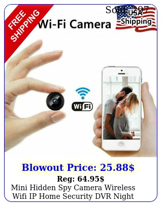 mini hidden spy camera wireless wifi ip home security dvr night vision hd