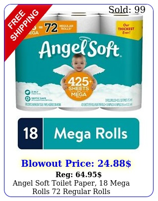 angel soft toilet paper mega rolls regular roll