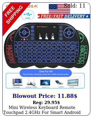 mini wireless keyboard remote touchpad ghz smart android pc ps xbo