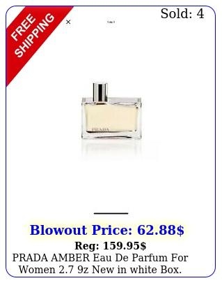 prada amber eau de parfum women z in white teste