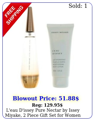 l'eau d'issey pure nectar by issey miyake piece gift set wome