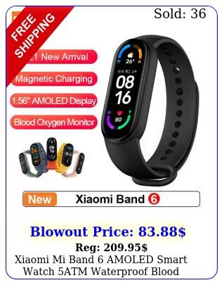 xiaomi mi band amoled smart watch atm waterproof blood oxygen fitness tracke