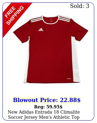adidas entrada climalite soccer jersey men's athletic to