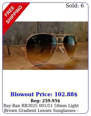 rayban rb mm light brown gradient lenses sunglasses gol