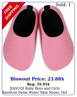 jiasuqi baby boys girls barefoot swim water skin shoes dot pink siz