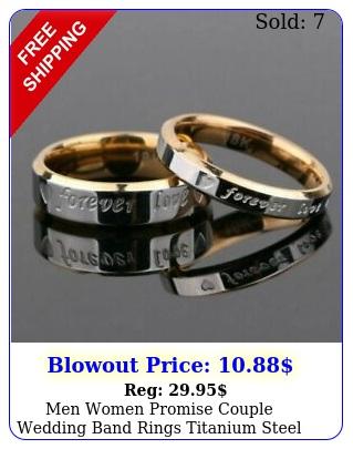 men women promise couple wedding band rings titanium steel forever love rin