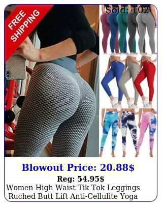 women high waist tik tok leggings ruched butt lift anticellulite yoga pants gy