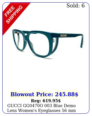 gucci ggo blue demo lens women's eyeglasses m