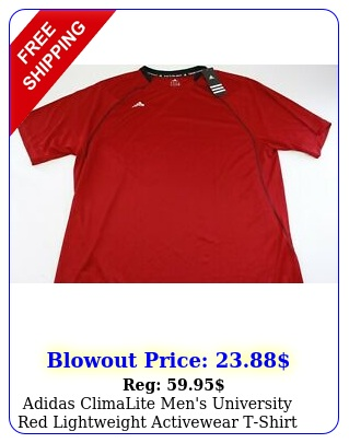 adidas climalite men's university red lightweight activewear tshirt size xx