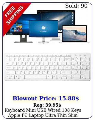 keyboard mini usb wired keys apple pc laptop ultra thin slim compact keypa