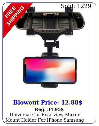 universal car rearview mirror mount holder iphone samsung phone gp