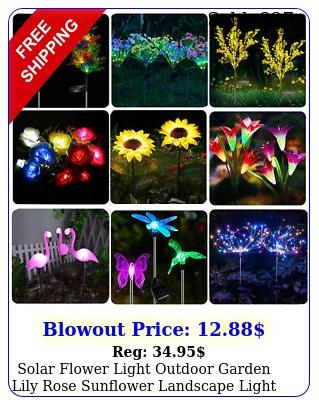 solar flower light outdoor garden lily rose sunflower landscape light styl