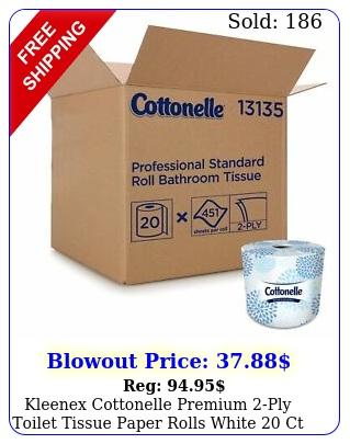kleenex cottonelle premium ply toilet tissue paper rolls white c