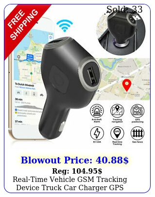 realtime vehicle gsm tracking device truck car charger gps tracker live audi