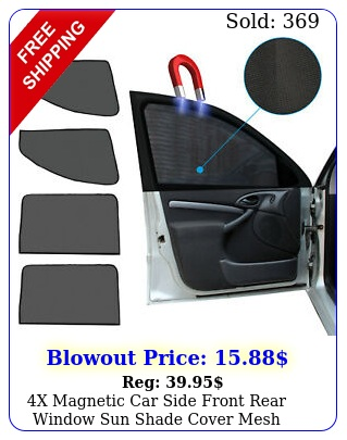 x magnetic car side front rear window sun shade cover mesh shield uv protectio